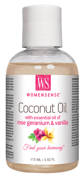 WomenSense Coconut Oil w rose geranium & vanilla