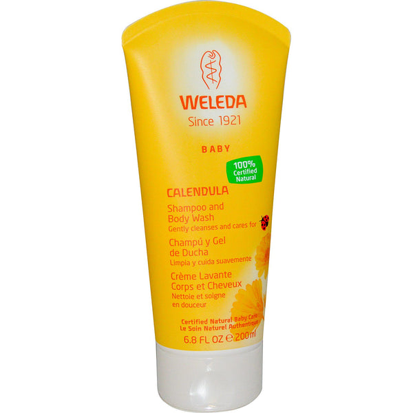Weleda Calendula, Baby Shampoo and Body Wash 200ml