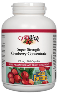 Natural Factors Cran Rich Super Strength Cranberry Concentrate 36:1