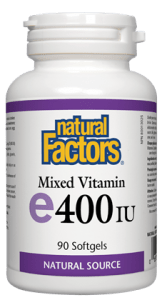 Natural Factors - mixed vitamin E 400IU