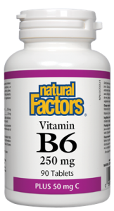 Natural Factors Vitamin B6 - 250mg plus 50mg C Tablets