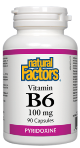 Natural Factors Vitamin B6 - 100mg Capsules