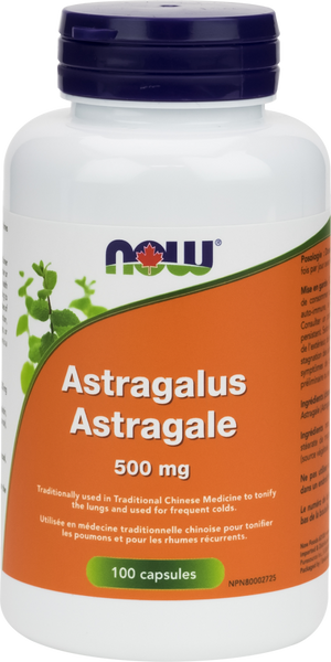 NOW Astragalus 500mg - 100 capsules