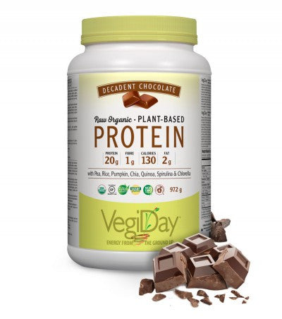 VegiDay Raw Organic Plant-Based Protein Decadent Chocolate