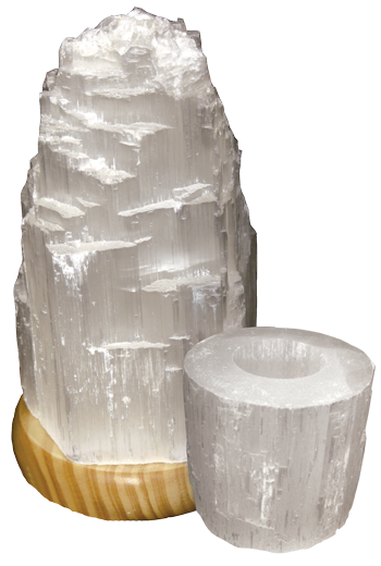 Ecoideas® Selenite Lamps and Tea Light Holders - IN STORE ONLY
