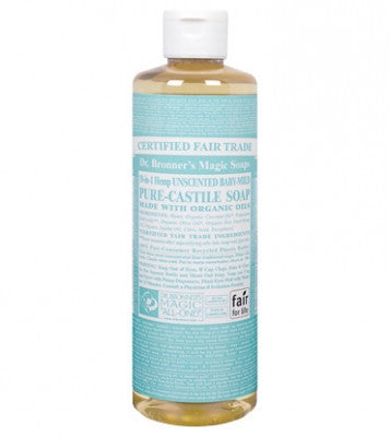 Dr. Bronner's Unscented Baby-Mild Liquid Soap