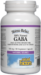 Natural Factors 100% Natural Gaba 100mg