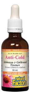 Natural Factors Anti-Cold Echinacea & Goldenseal Tincture