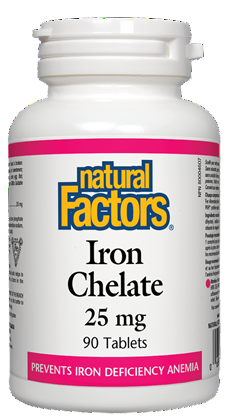 Natural Factors Iron Chelate 25mg