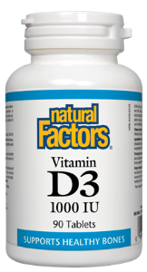 Natural Factors Vitamin D3 Tablets