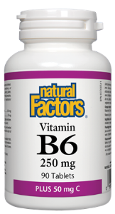 Natural Factors Vitamin B6 - 250mg Tablets