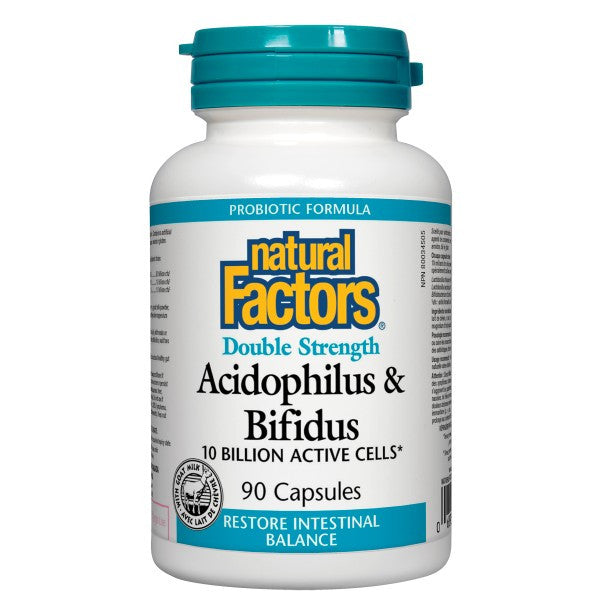 Natural Factors Double Strength Acidophilus & Bifidus 10 billion