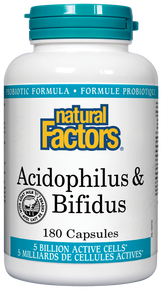 Natural Factors - Acidophilus & Bifidus 5 million