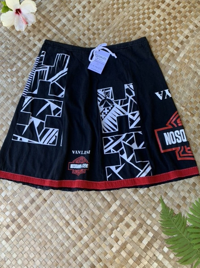 "Ladies Size L ""Black Hawaii Harley"" My Favorite Skirt"