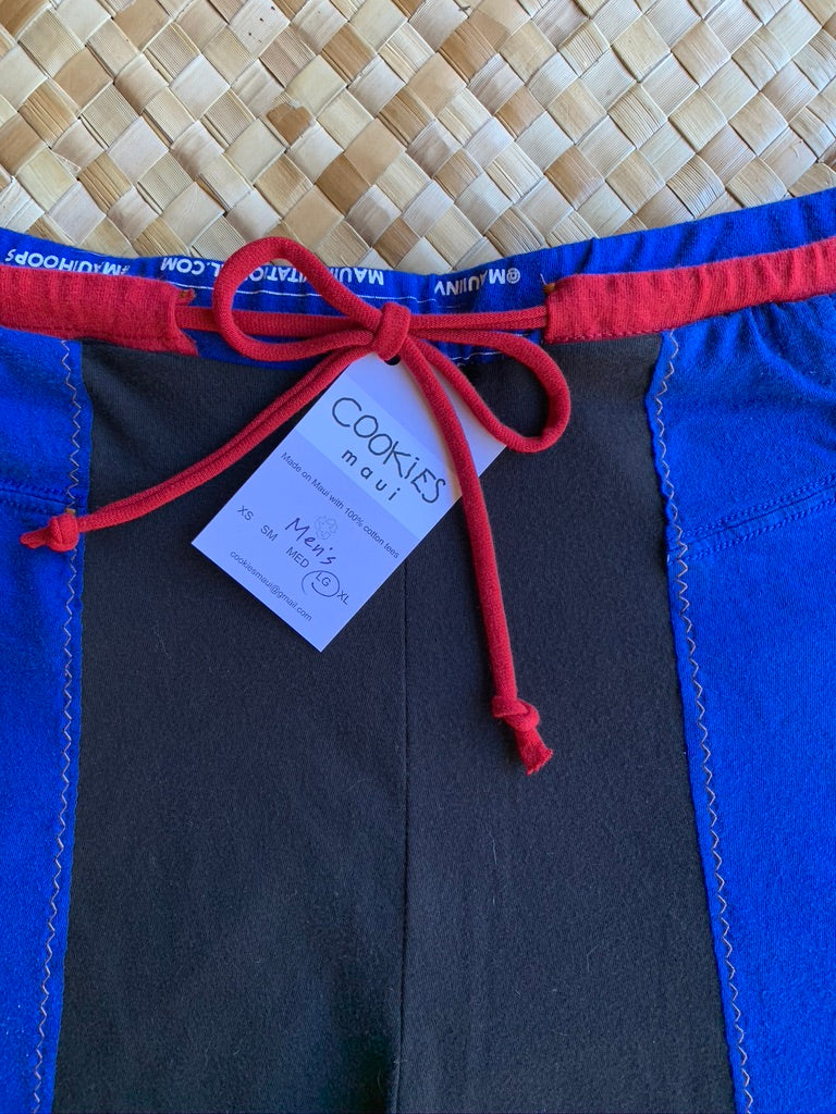 "Mens Size L ""Black & Blue Spider Boy"" Kanikapila Shorts"
