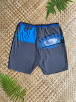 "Load image into Gallery viewer, Mens Size M ""Teal and Grey Surfer"" Kanikapila Shorts"