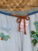 "Load image into Gallery viewer, Mens Size S ""Stripes & Light Blue No Worries"" 'Opihi Pickers"