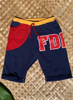 "Load image into Gallery viewer, Kids Size 10 ""Navy Blue FDNY"" Beach Comber Shorts"