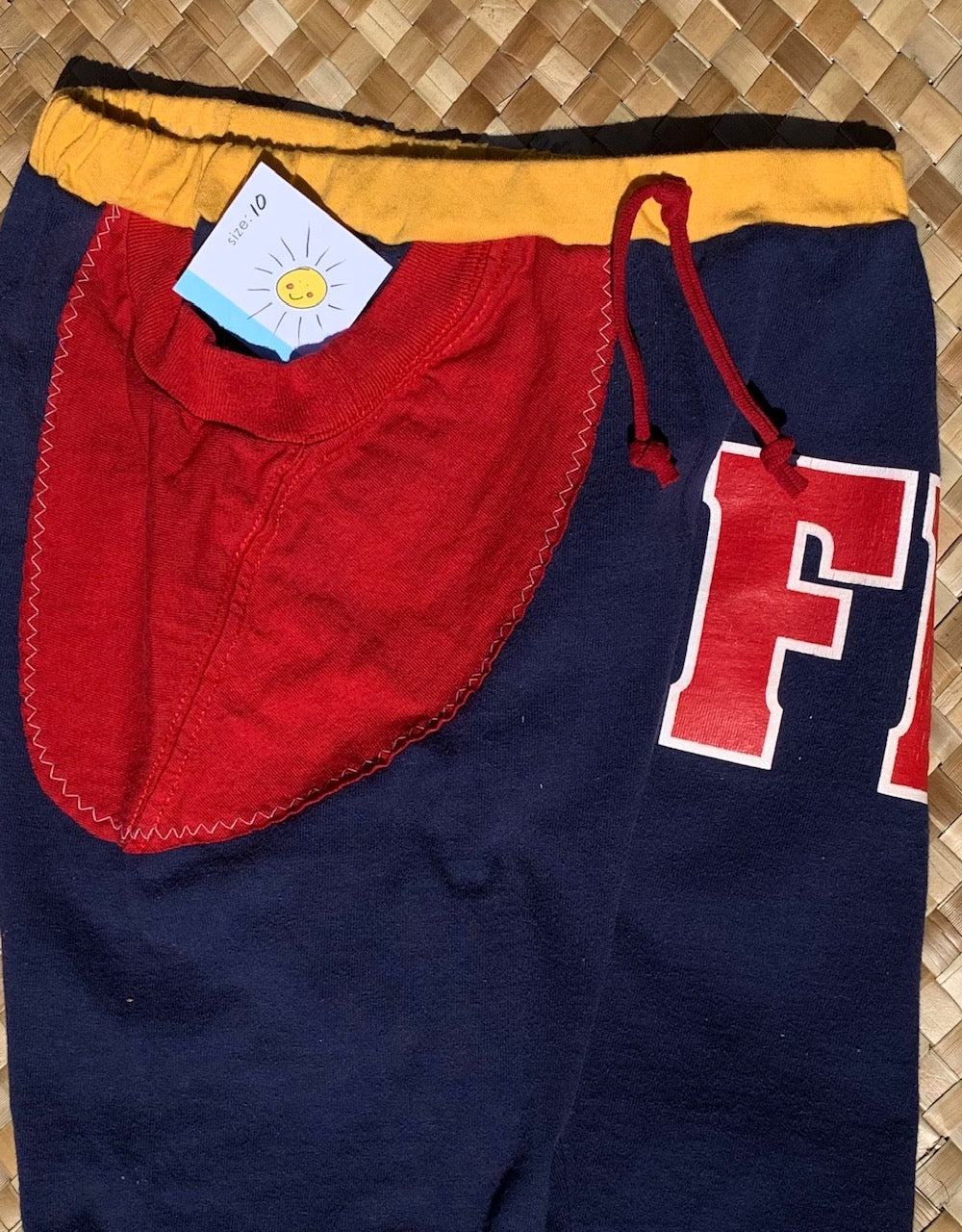 "Kids Size 10 ""Navy Blue FDNY"" Beach Comber Shorts"