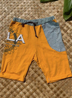 "Load image into Gallery viewer, Kids Size 8 ""Yellow Rotary"" Beach Comber Shorts"
