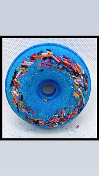 DONUT BATH BOMB-BLUEBERRY - petandpeopleboutique