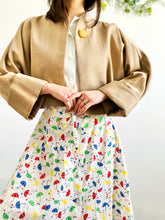 Load image into Gallery viewer, Vintage 1950s dolman sleeves wool caplet jacket
