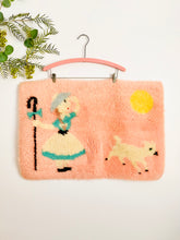 Load image into Gallery viewer, Vintage pastel pink novelty print doormat/bath mat