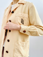 Load image into Gallery viewer, Vintage 1940s monogrammed jacket apricot color blouse
