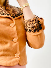 Load image into Gallery viewer, Vintage 1930s apricot color jacket with black soutache