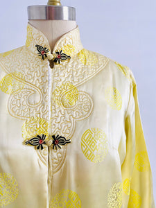 Vintage Chinese Embroidered Jacket with Pockets