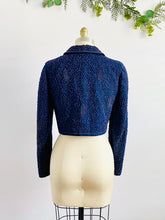 Load image into Gallery viewer, Vintage Blue 1940s Soutache Embroidered Jacket