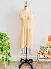 Load image into Gallery viewer, 1920s peach color wool slip dress on mannequin