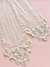 Load image into Gallery viewer, Antique victorian tulle lace scarf art nouveau design