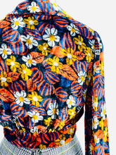 Load image into Gallery viewer, Vintage 1970s Floral Velvet Cropped Jacket