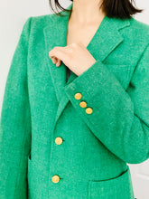 Load image into Gallery viewer, Vintage 1970s Emerald Green Wool Jacket Vintage Blazer