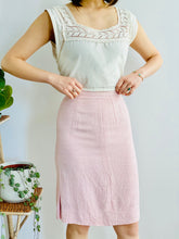 Load image into Gallery viewer, 1960s Pink Linen Dress Set Audrey Hepburn Style