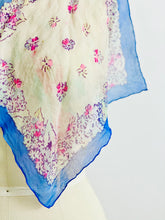Load image into Gallery viewer, Vintage 1930s Dreamy Floral Silk Scarf
