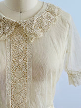 Load image into Gallery viewer, vintage 1920s chemical lace top on mannequin