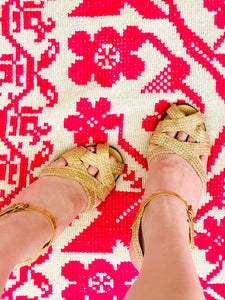Vintage 1930s gold mesh metallic sandals