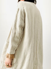Load image into Gallery viewer, Vintage oatmeal color cotton linen duster large pockets