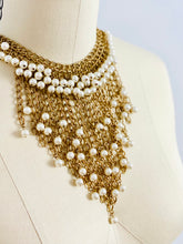 Load image into Gallery viewer, Vintage bib style pearl necklace