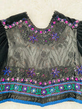 Load image into Gallery viewer, Vintage Colorful Beaded Embroidered Jacket with Velvet Balloon Sleeves