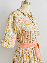 Load image into Gallery viewer, 1940s Liberty London Floral Dress Daisies Print Fall Colors