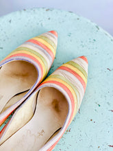 Load image into Gallery viewer, Vintage 1960s Pastel Colored Heels Rainbow Leather Stilettos