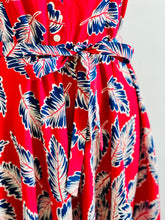 Load image into Gallery viewer, Novelty Print Dress Leaves print Red Dress
