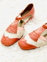 Load image into Gallery viewer, Vintage Chestnut Color Sandals Mary Janes Leather Shoes