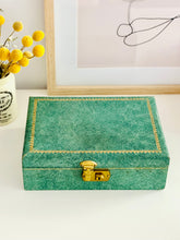 Load image into Gallery viewer, Vintage 1930s Jewelry box with pink velvet and gold hardware