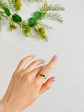Load image into Gallery viewer, Vintage Adjustable Green Rhinestones Ring