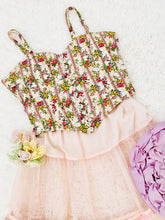 Load image into Gallery viewer, Vintage Floral Corset Top w Clear Buttons