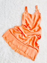 Load image into Gallery viewer, 1920s Peach Silk Lingerie Slip Scalloped Edge